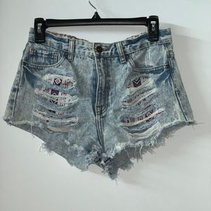Distressed shorts from forever 21.